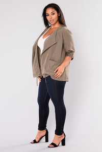 Trendy Chick Anorak Jacket - Olive