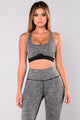 Sydney Active Sports Bra - Grey