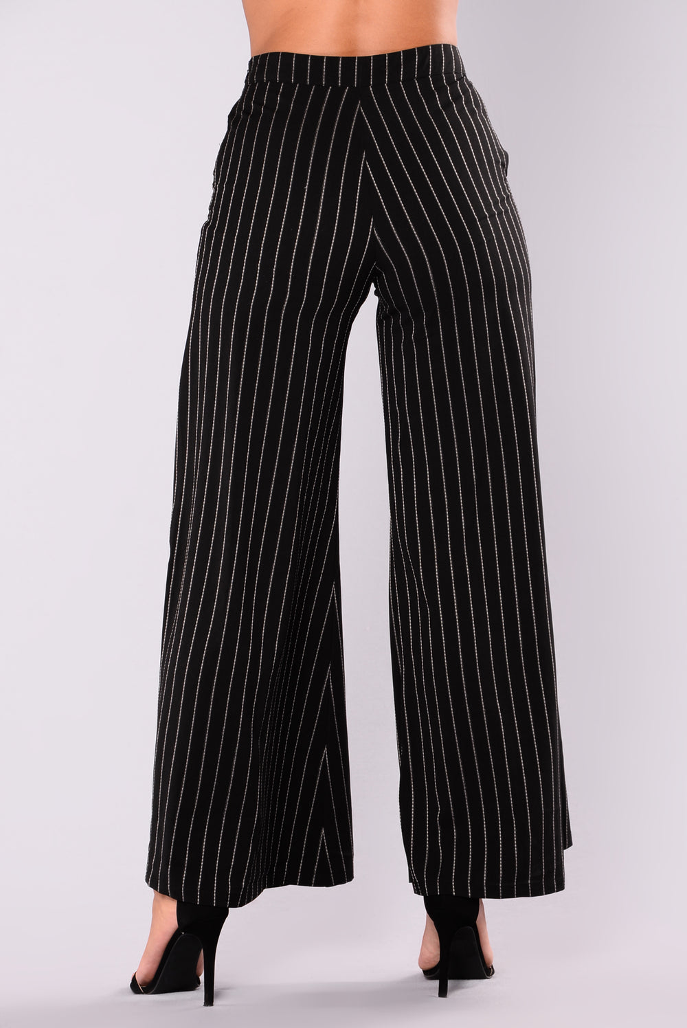Skylar High Waisted Flare Pants - Black/White