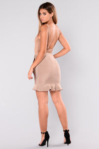 Life On Thrill Bandage Skirt - Almond