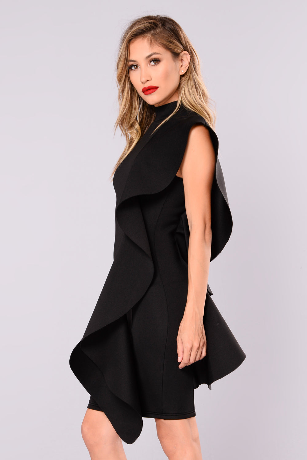 Carnival Ruffle Dress - Black
