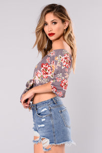 Vallerie Floral Off Shoulder Top - Lavender