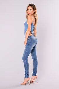 Alexys Skinny Jeans - Medium Blue Wash Angle 3