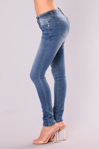 Alexys Skinny Jeans - Medium Blue Wash Angle 4