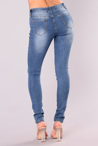 Alexys Skinny Jeans - Medium Blue Wash Angle 5