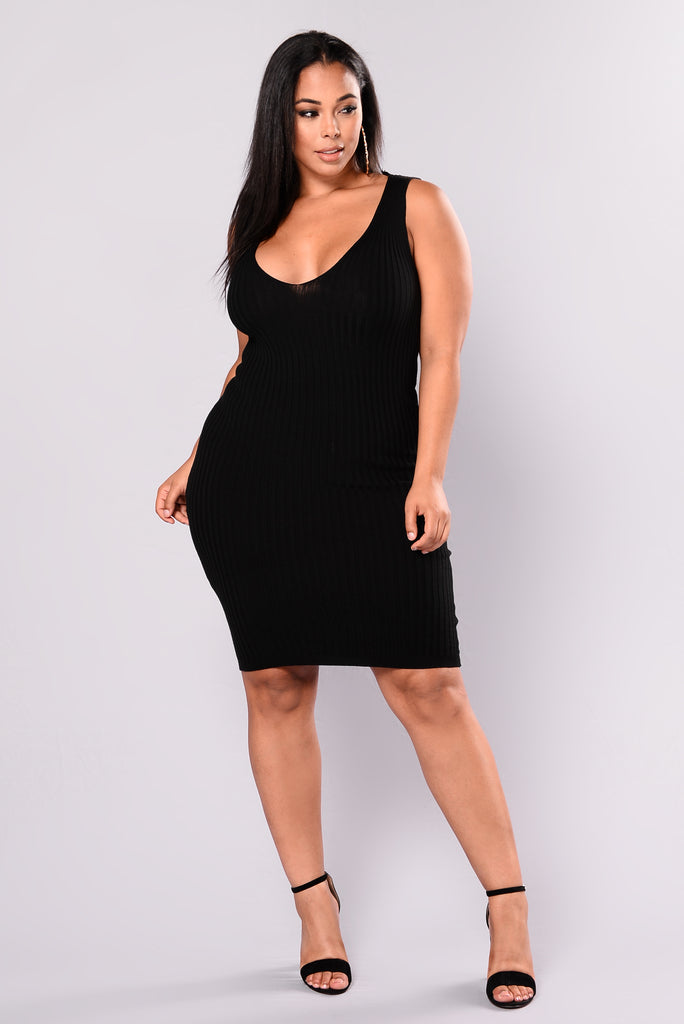 Karla Knit Dress - Black