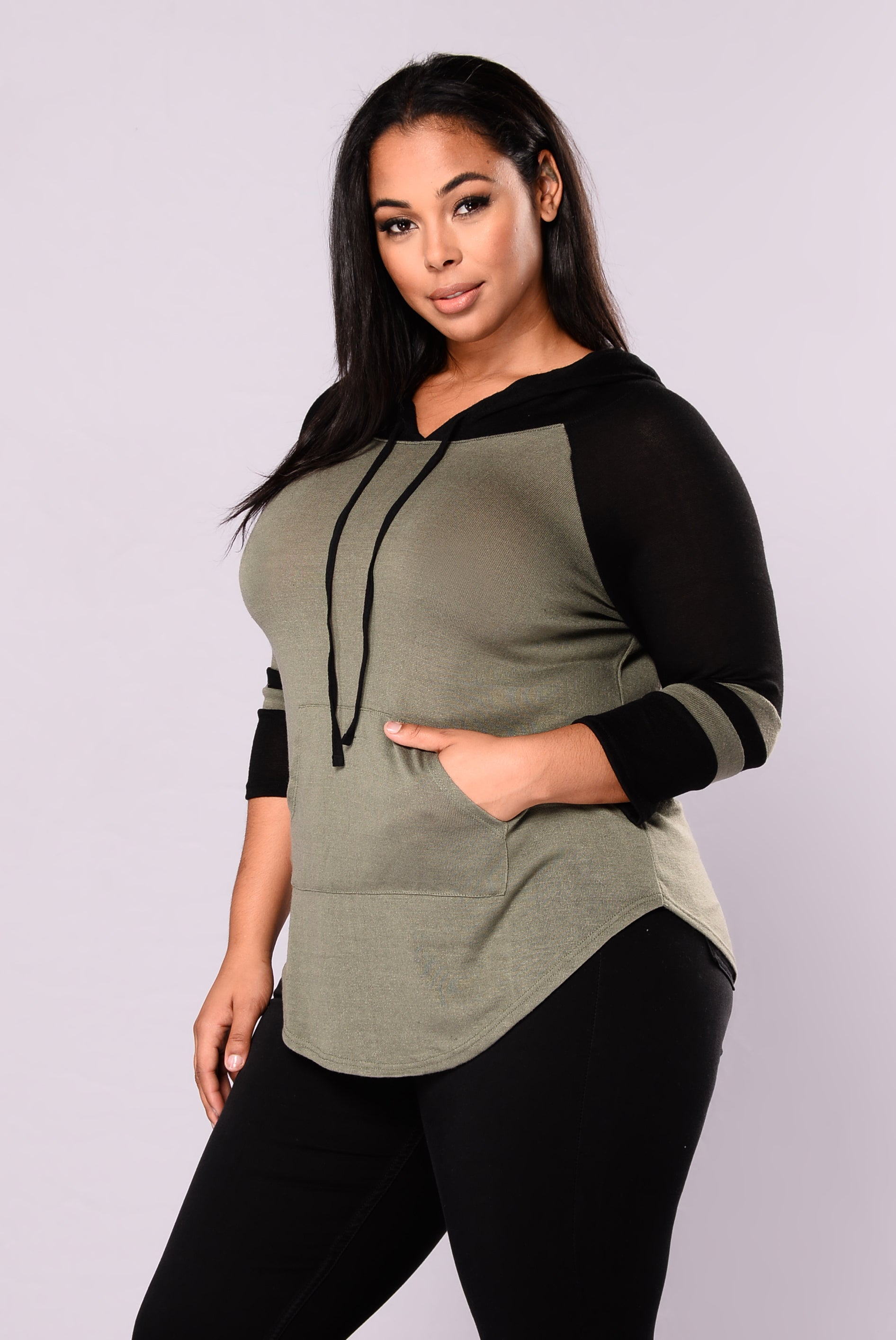 Who 39 S That Gal Sweater Top Olive