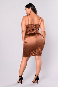 Stupid In Love Dress - Chocolate
