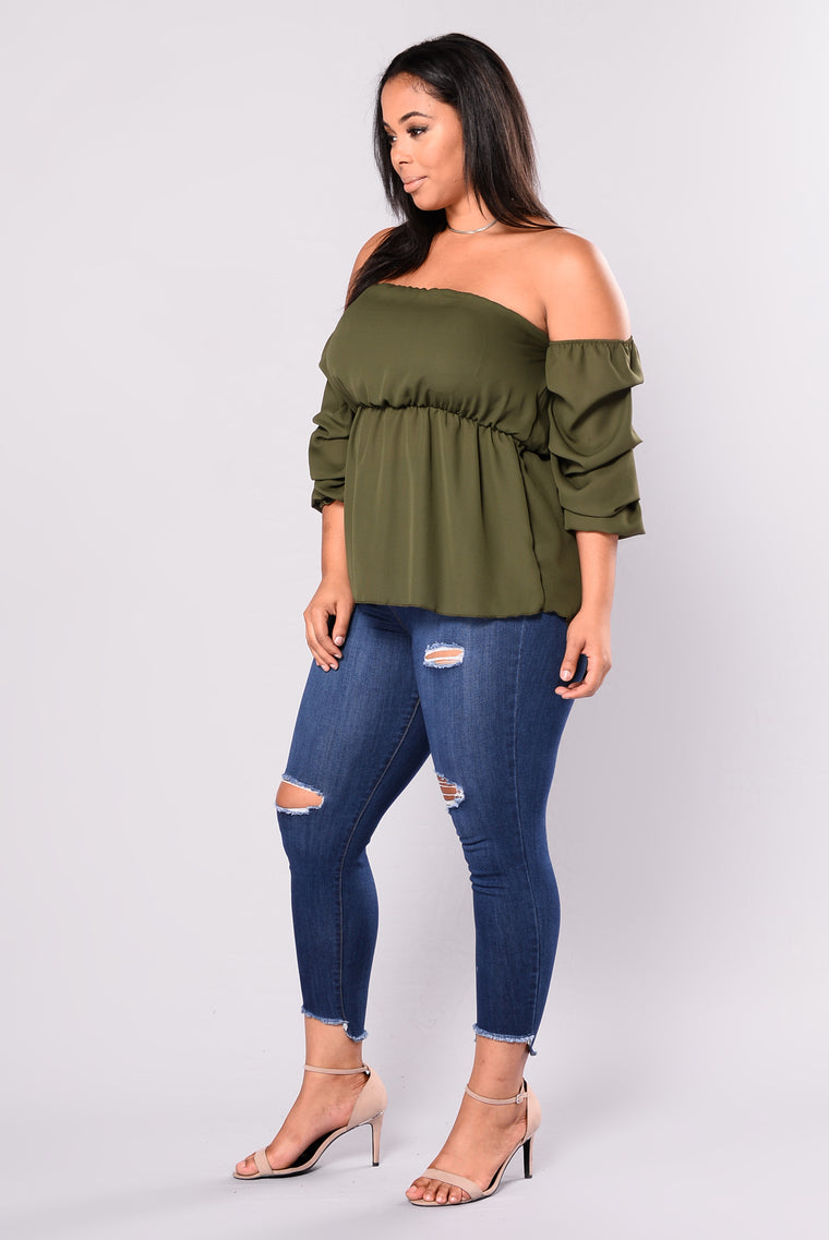 Always Drama Top - Olive