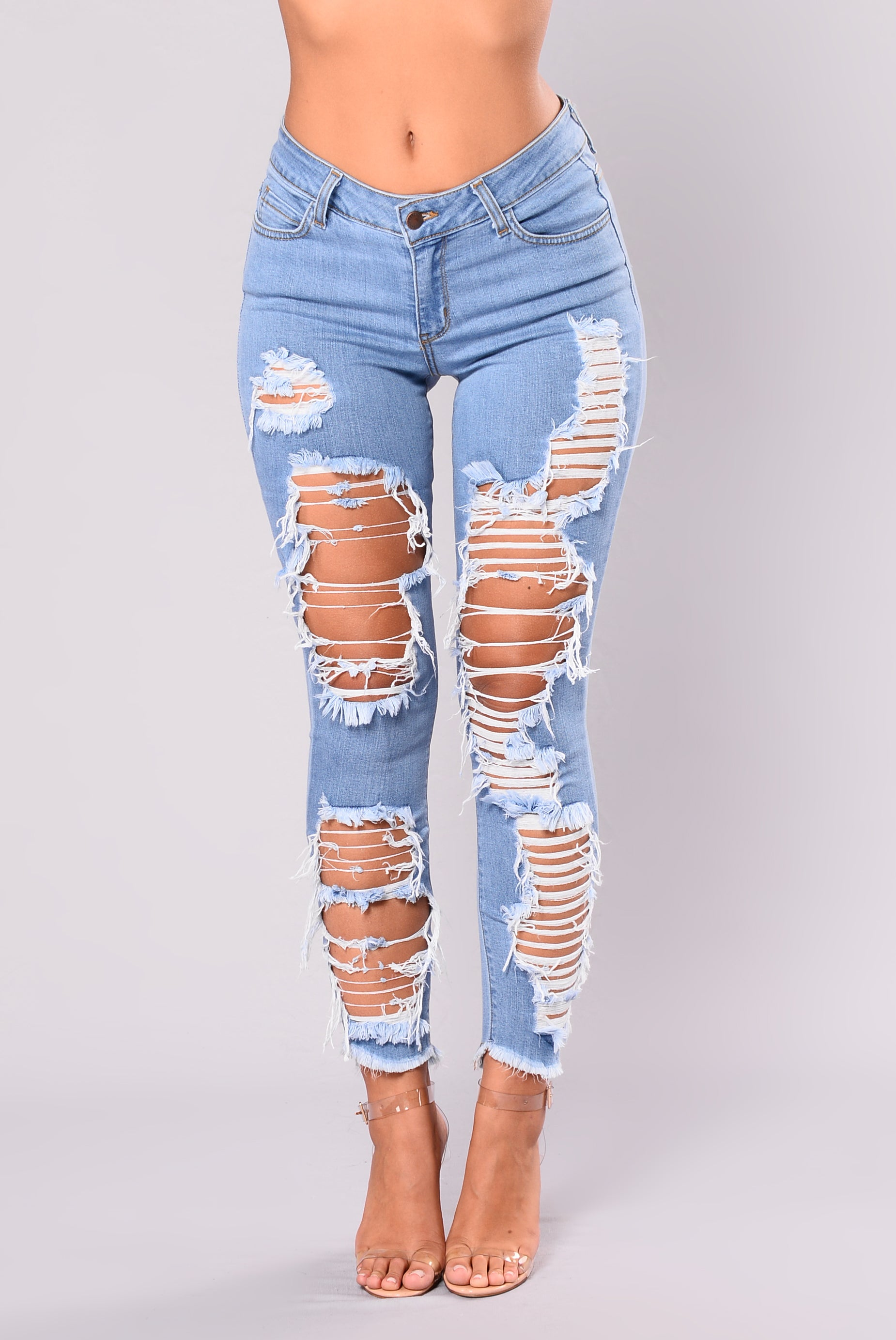 Cassy Distress Jeans Light