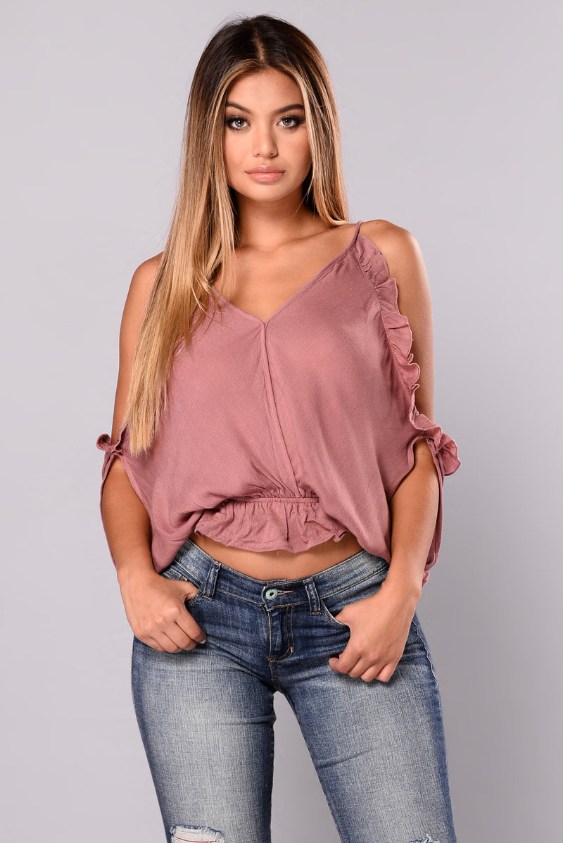 Sabrina Top - Dusty Rose