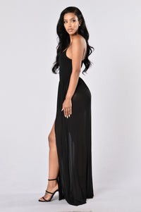 Feeling Regal Dress - Black Angle 3