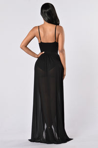 Feeling Regal Dress - Black Angle 2