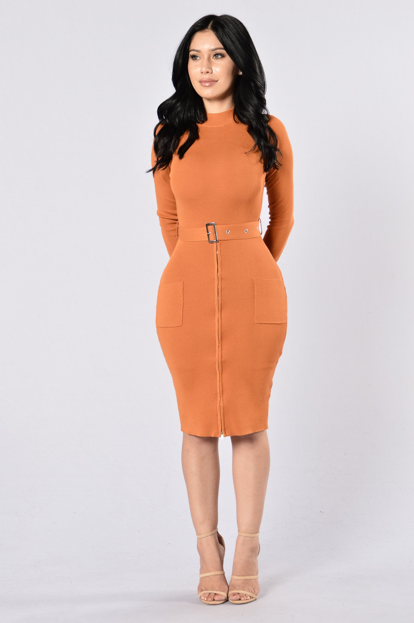 Minimal Effect Dress Pumpkin