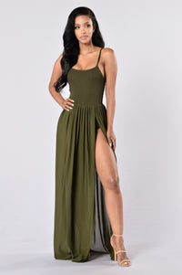 Feeling Regal Dress - Olive
