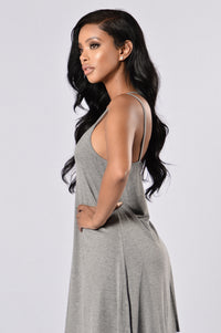 I'm Yours Dress - Heather Grey