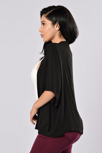 Easy As Can Be Kimono - Black