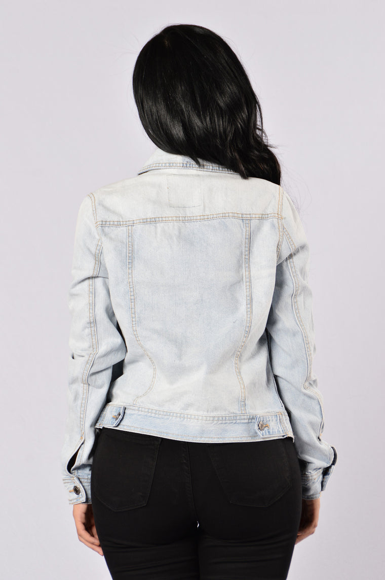 Off The Path Denim Jacket - Light Blue