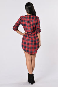 Tahoe Shirt Dress - Red