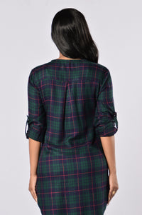 Tahoe Shirt Dress - Hunter