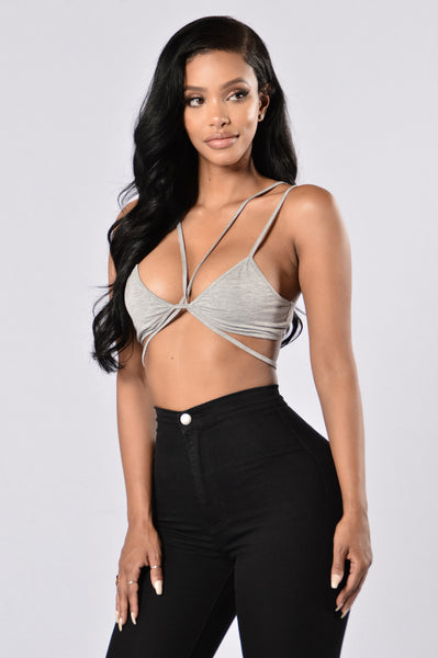 Is It Just Me? Bralette - Heather Grey