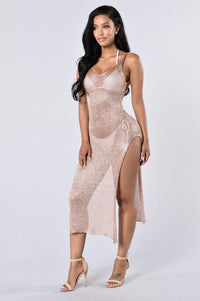 Fiji Cover Up Dress - Rose Gold Angle 1