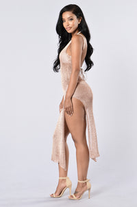 Fiji Cover Up Dress - Rose Gold Angle 3