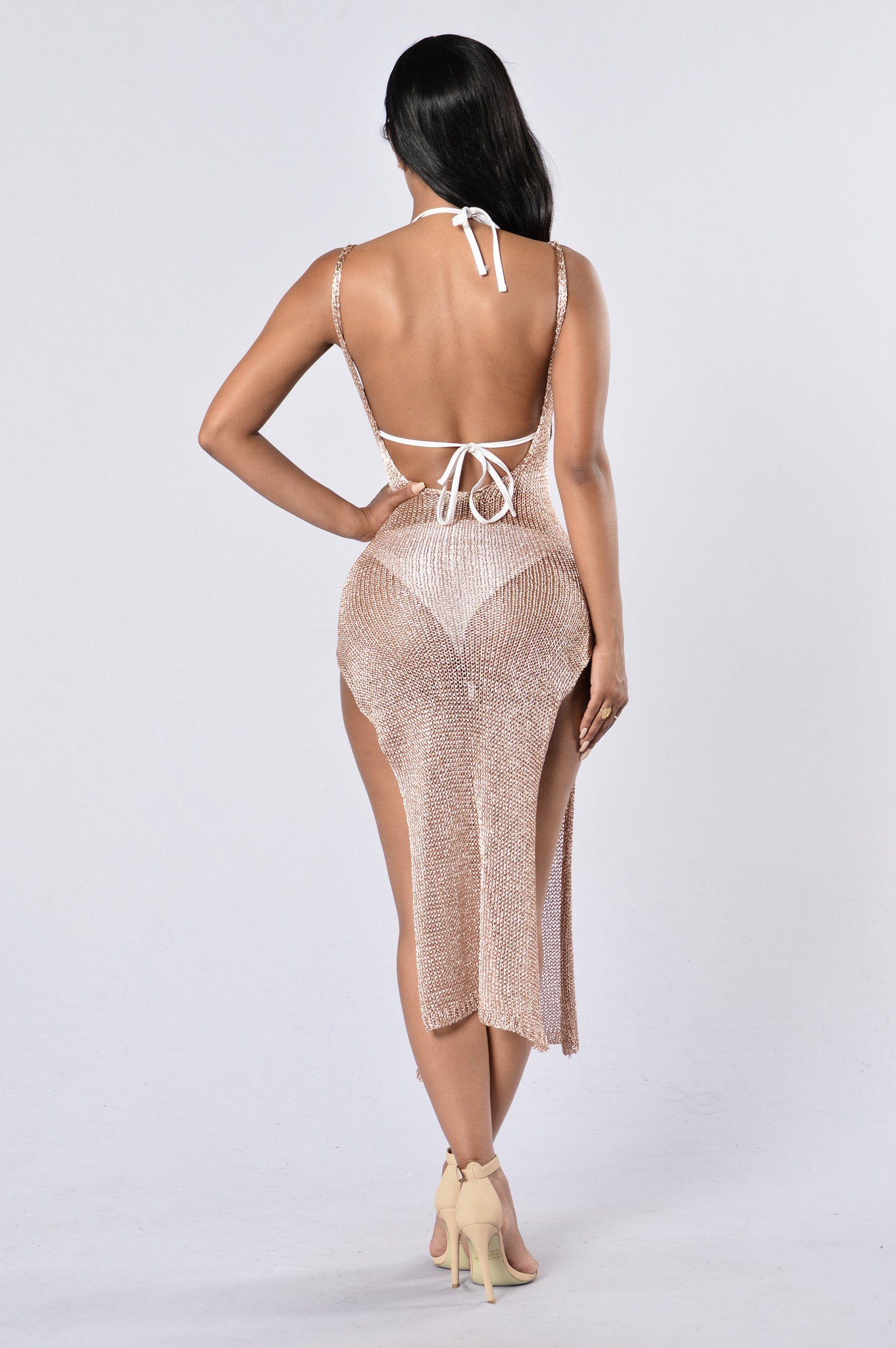 ad9954da9a296 Fiji Cover Up Dress - Rose Gold