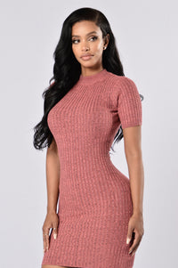 Cuddle Weather Dress - Mauve