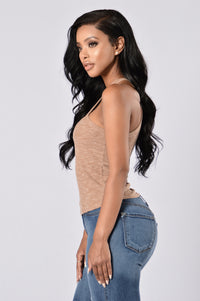 Out Of The Park Tank Top - Taupe Angle 4