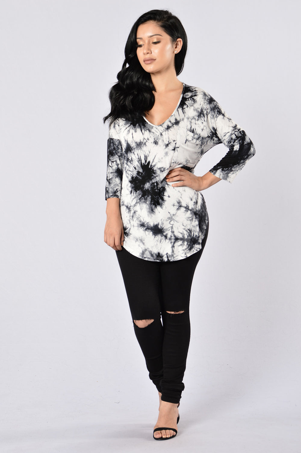 Need Therapy Tie Dye Top - Ivory