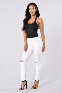 Team Fun Crop Top - Black Angle 4