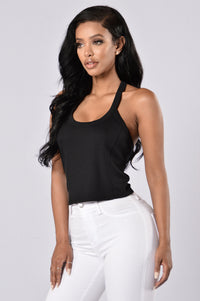 Team Fun Crop Top - Black