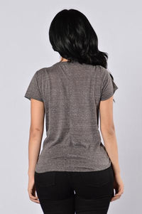 Maddy Top - Charcoal