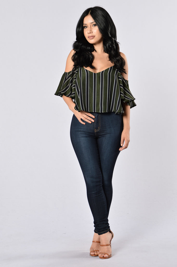 Stripes Top - Olive