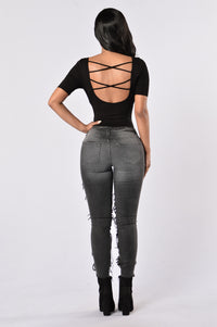 Back To Basics Bodysuit - Black