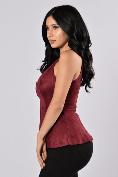 Sweet Like Sugar Top - Burgundy