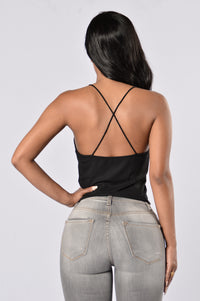 Hard To Get Crop Top - Black