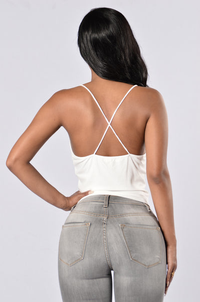 Hard To Get Crop Top - Ivory