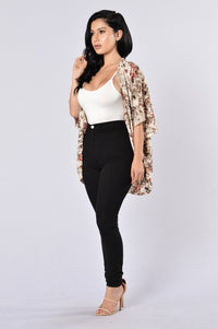 Always In Floral Kimono - Ivory Angle 6