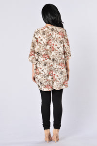 Always In Floral Kimono - Ivory Angle 5