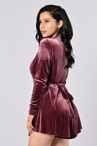Something Special Romper - Mulberry