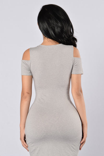 Split Up Dress - Light Grey