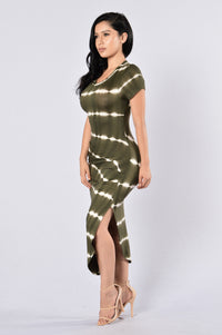 City Adventurer Dress - Olive