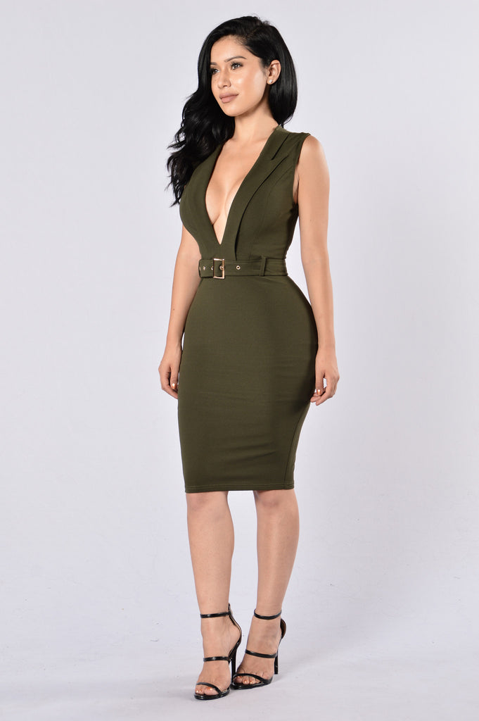 Captain Dress - Olive