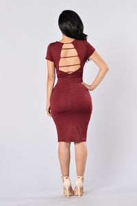 Old Flame Dress - Burgundy