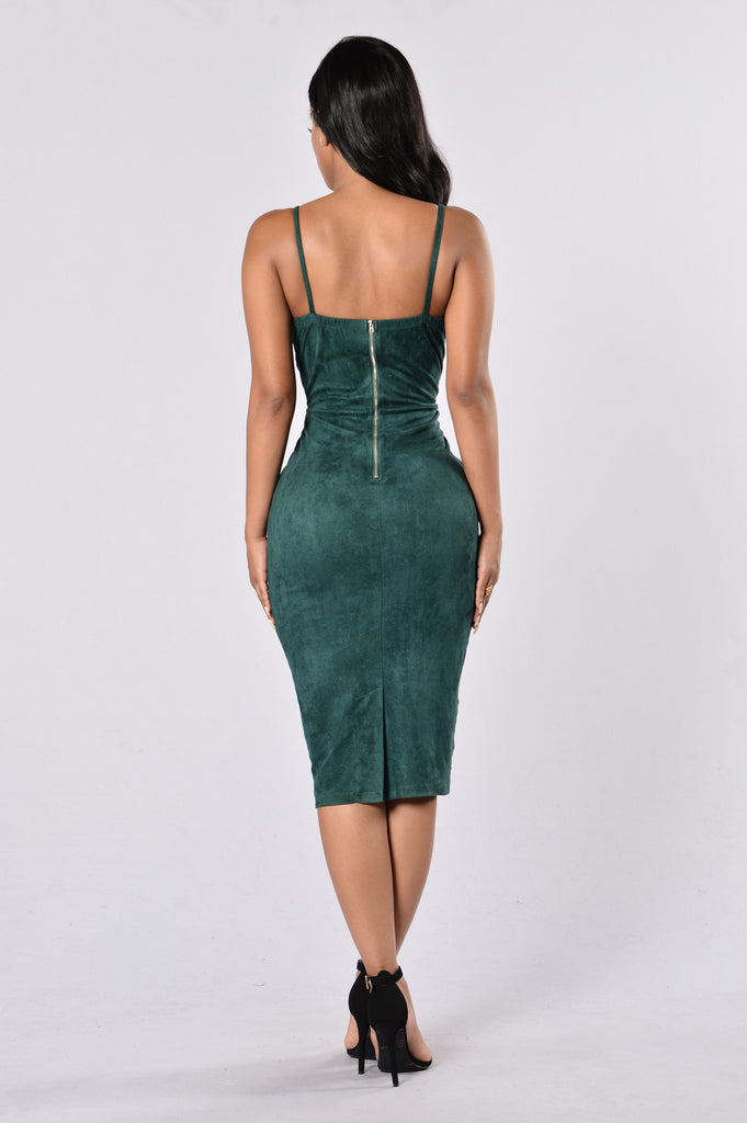 Properly Perfect Dress - Hunter Green