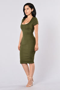 Old Flame Dress - Olive Angle 3