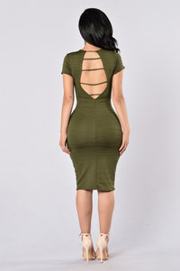 Old Flame Dress - Olive Angle 2