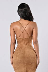 Rewind Dress - Camel